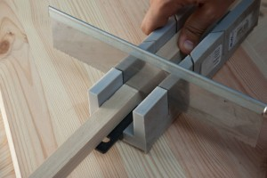 Cutting luber with miter box