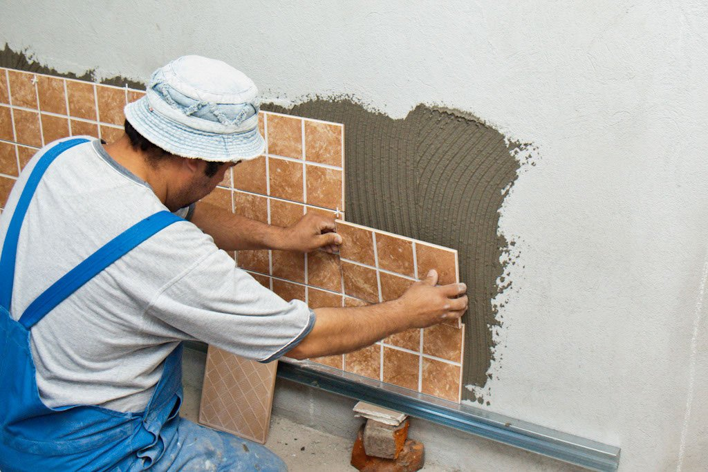 Can you lay tile on a concrete shower wall bathroom - How to install ceramic tile on wall ...