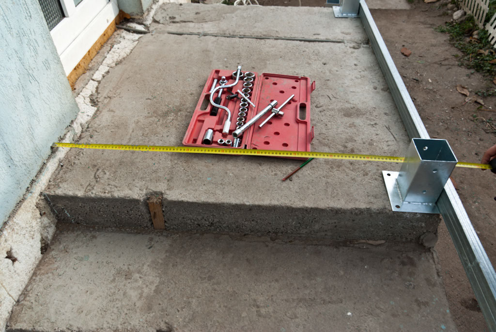 Measuring deck to install deck hardware