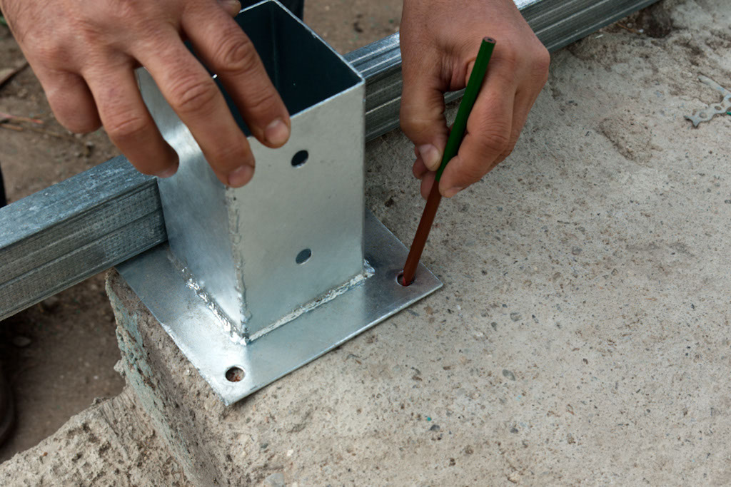 Marking where to make drill holes