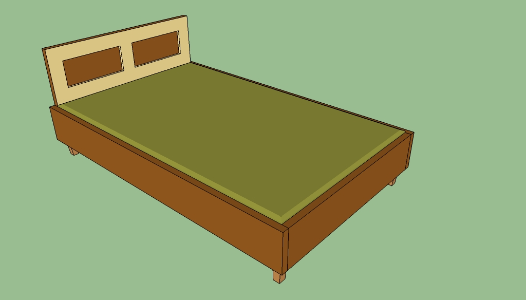 Queen wooden bed frame free plans