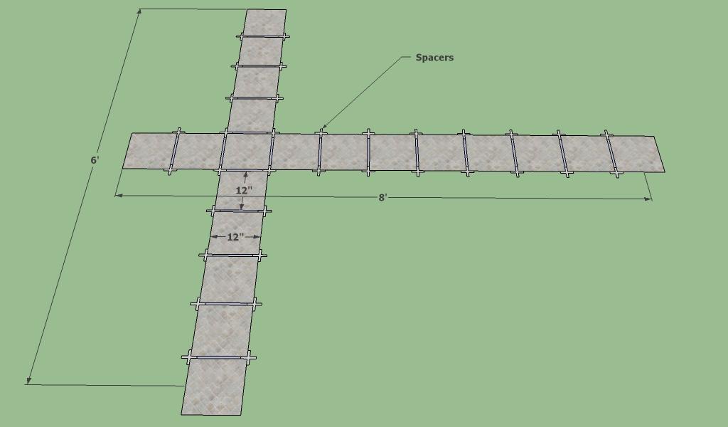Layout floor tile