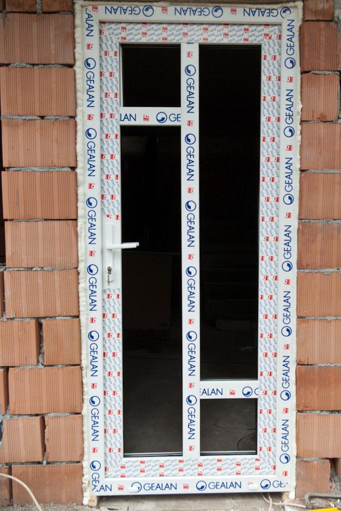 Installing pvc door frame