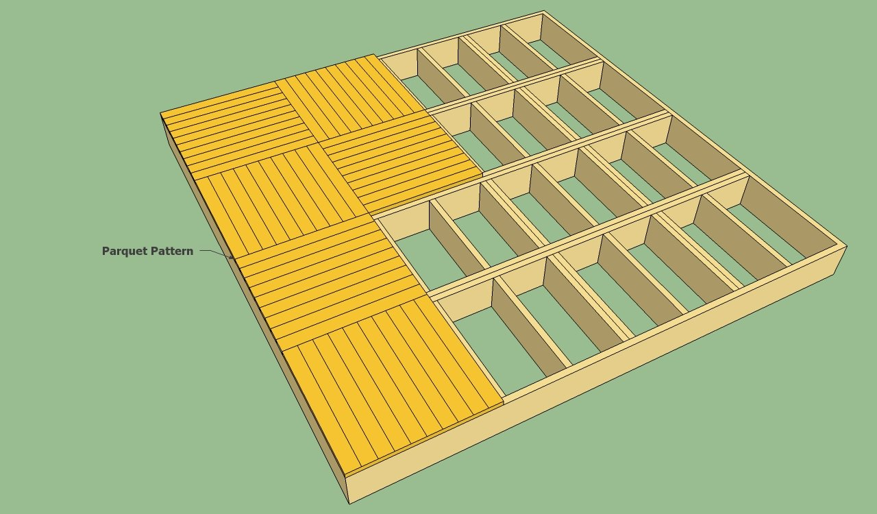 Decking patterns howtospecialist how to build step by 16x16 deck material list