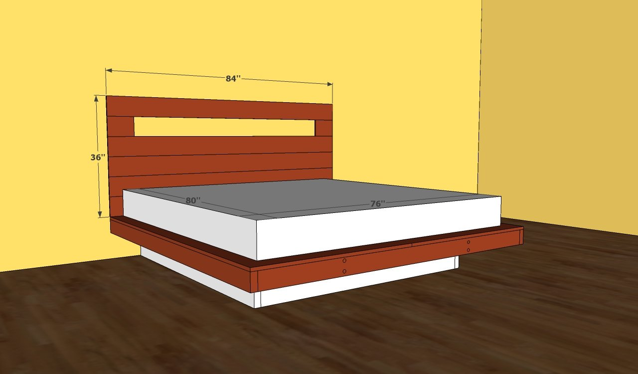 Bed frames with storage plans - Platform Bed Frame