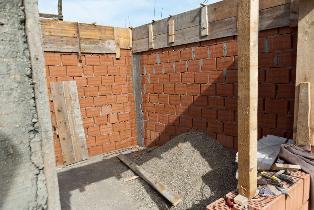 Brick house construction howtospecialist how to build step by step diy plans - When to start building a house ...