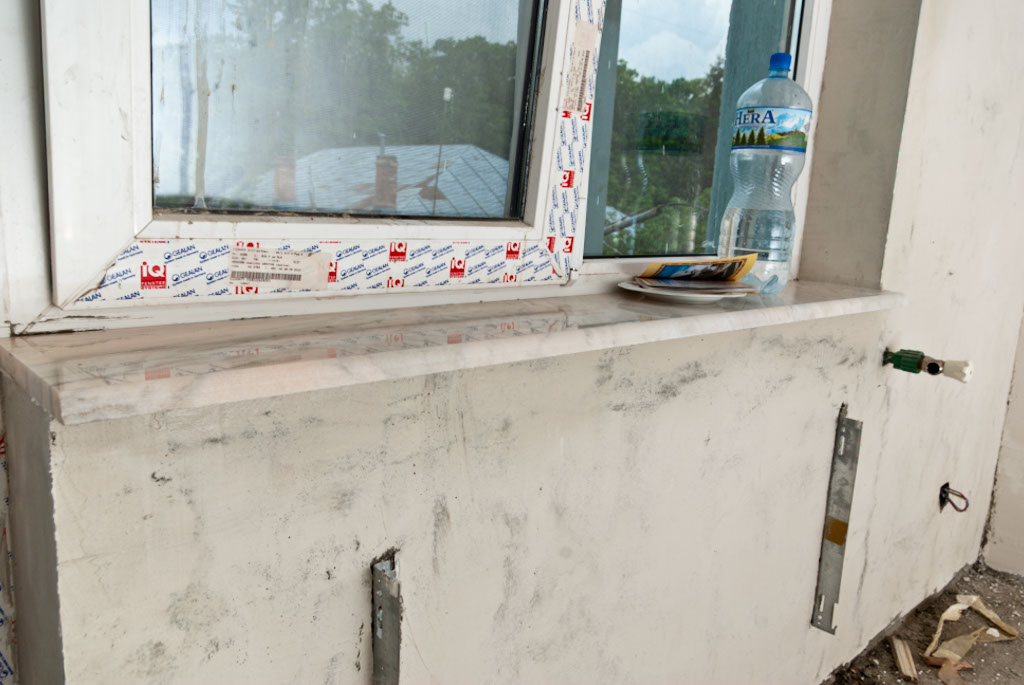 Marble window sill