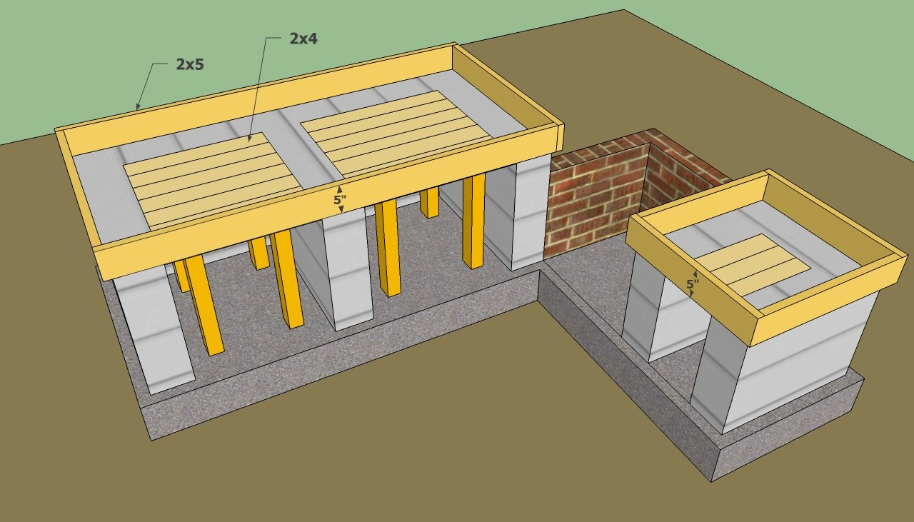 Outdoor kitchen plans free howtospecialist how to for Plans for outside kitchen
