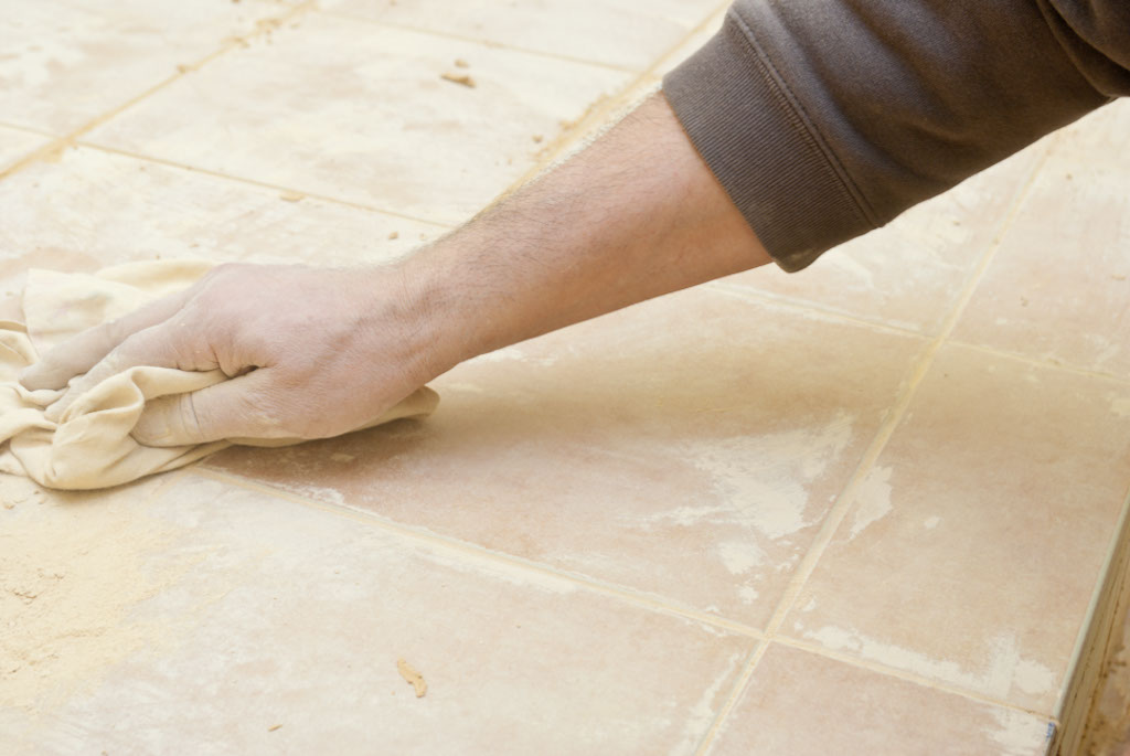 Grouting tile floor tips