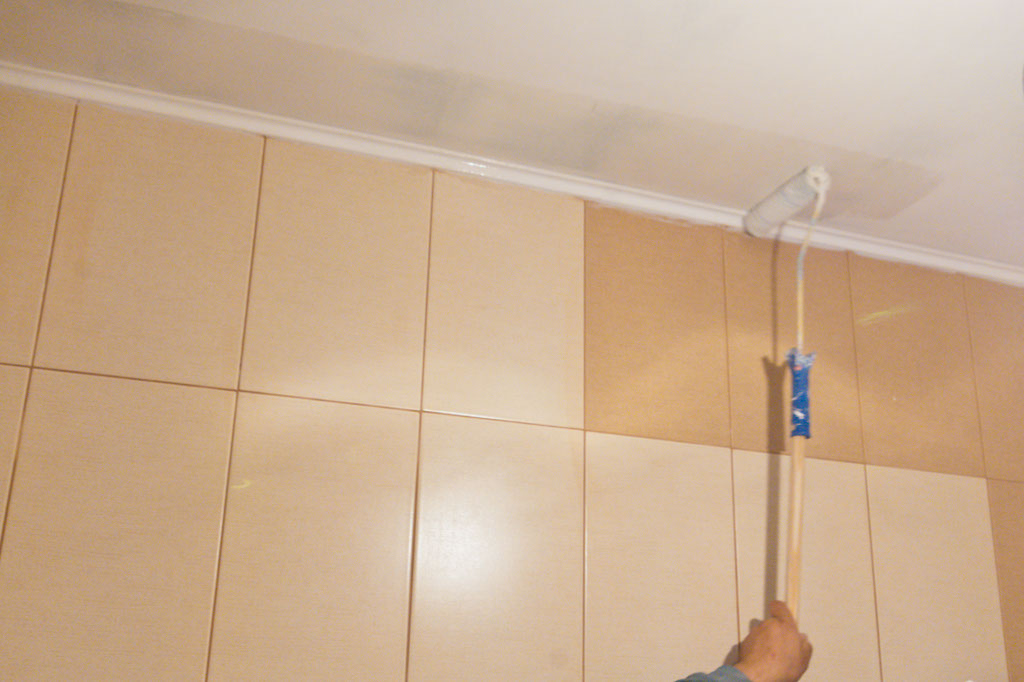 How to paint ceilings howtospecialist how to build for Best paint finish for bathroom ceiling