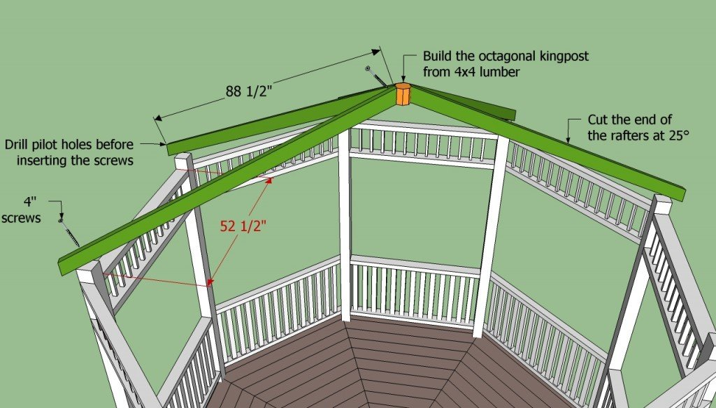 Gazebo plans free howtospecialist how to build step for How to build a house online program for free