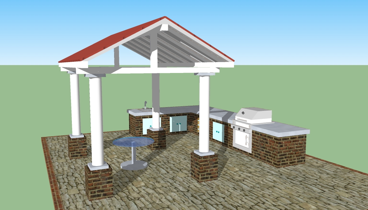 Outdoor kitchen plans free howtospecialist how to for Outdoor kitchen blueprints