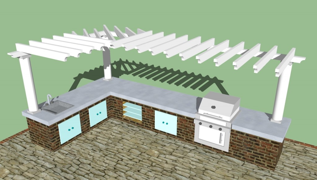 Outdoor kitchen designs howtospecialist how to build for Outdoor kitchen design plans free