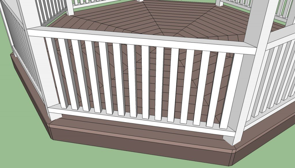 Gazebo railings plans