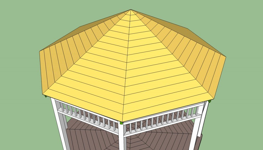 Gazebo roof structure