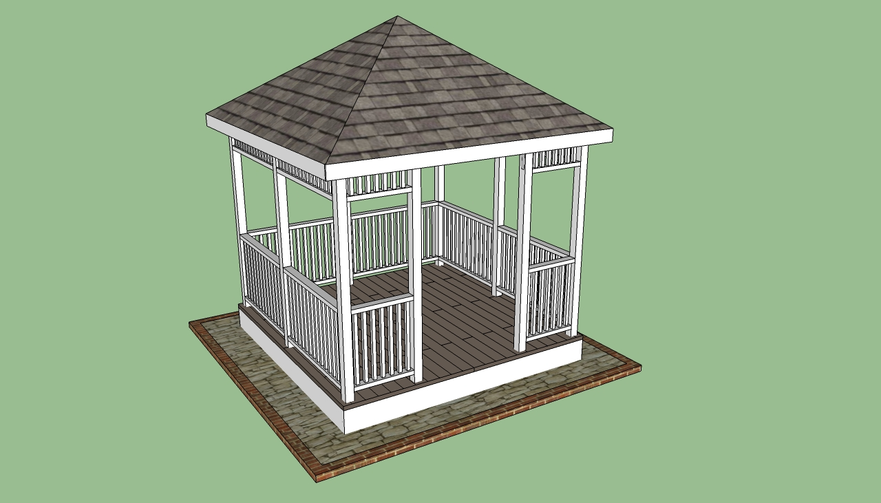 How to build a gazebo howtospecialist how to build for Simple gazebo plans