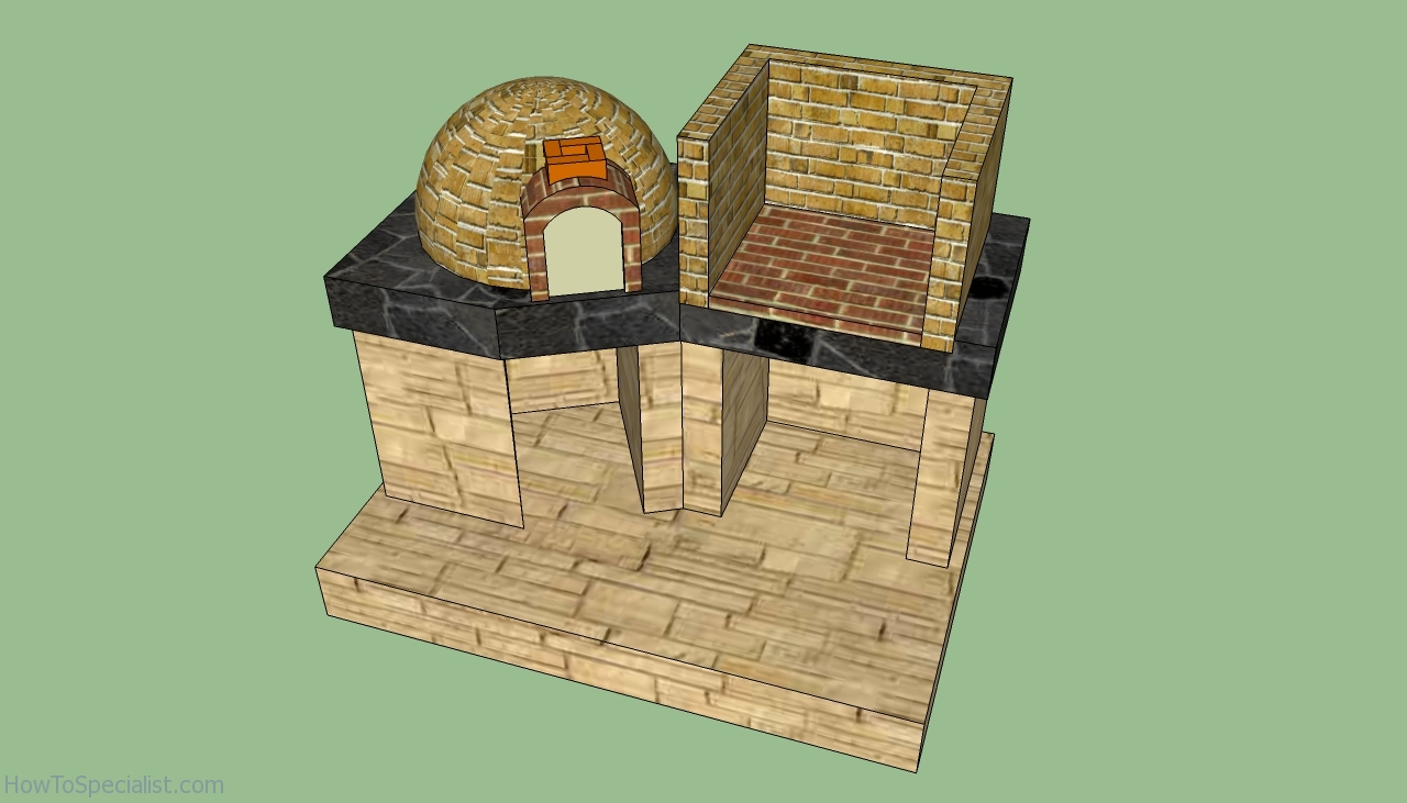 Brick oven plans howtospecialist how to build step by - Barbecue design ...