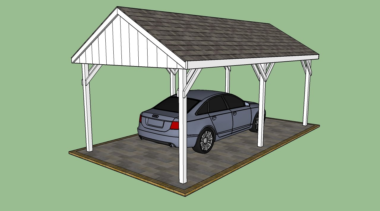 Attached wood carport kit prices interior decorating for Attached carport plans free