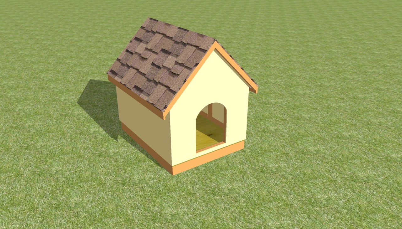 Dog house plans free howtospecialist how to build step by step diy plans Build a house online