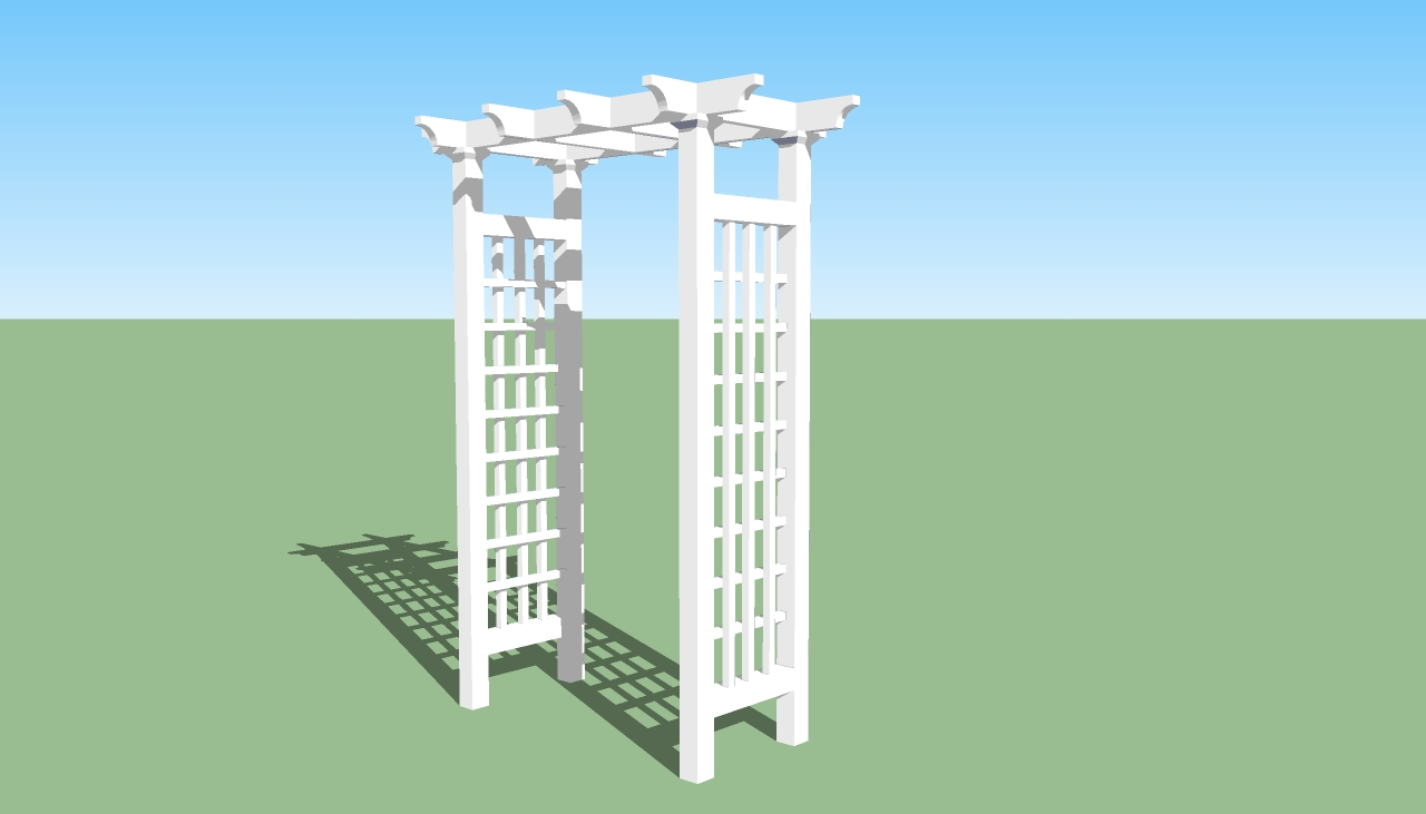 gazebo garden arbor building plans floor plans
