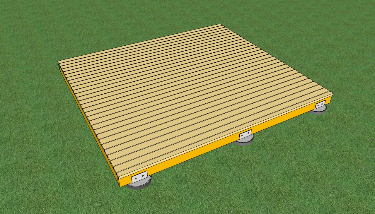How to build a deck on the ground howtospecialist how Building a deck