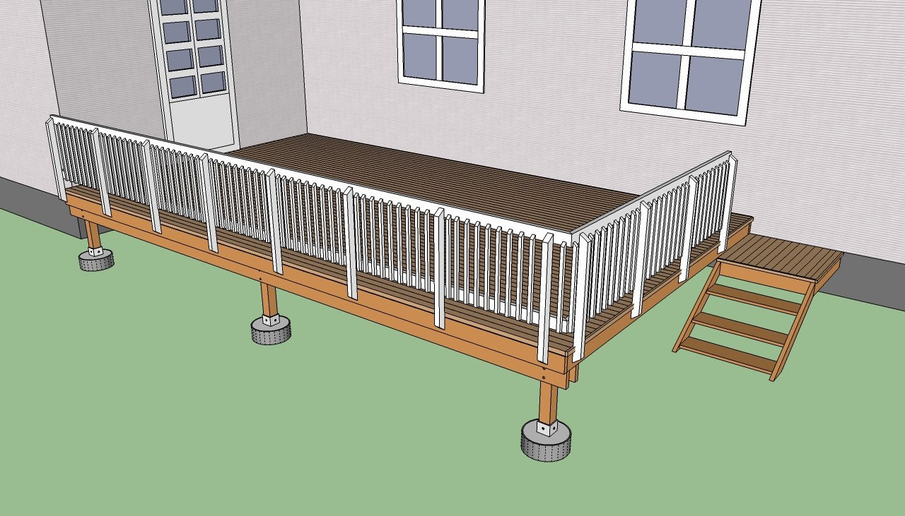 How to build a deck step by step howtospecialist how for Building a front porch deck