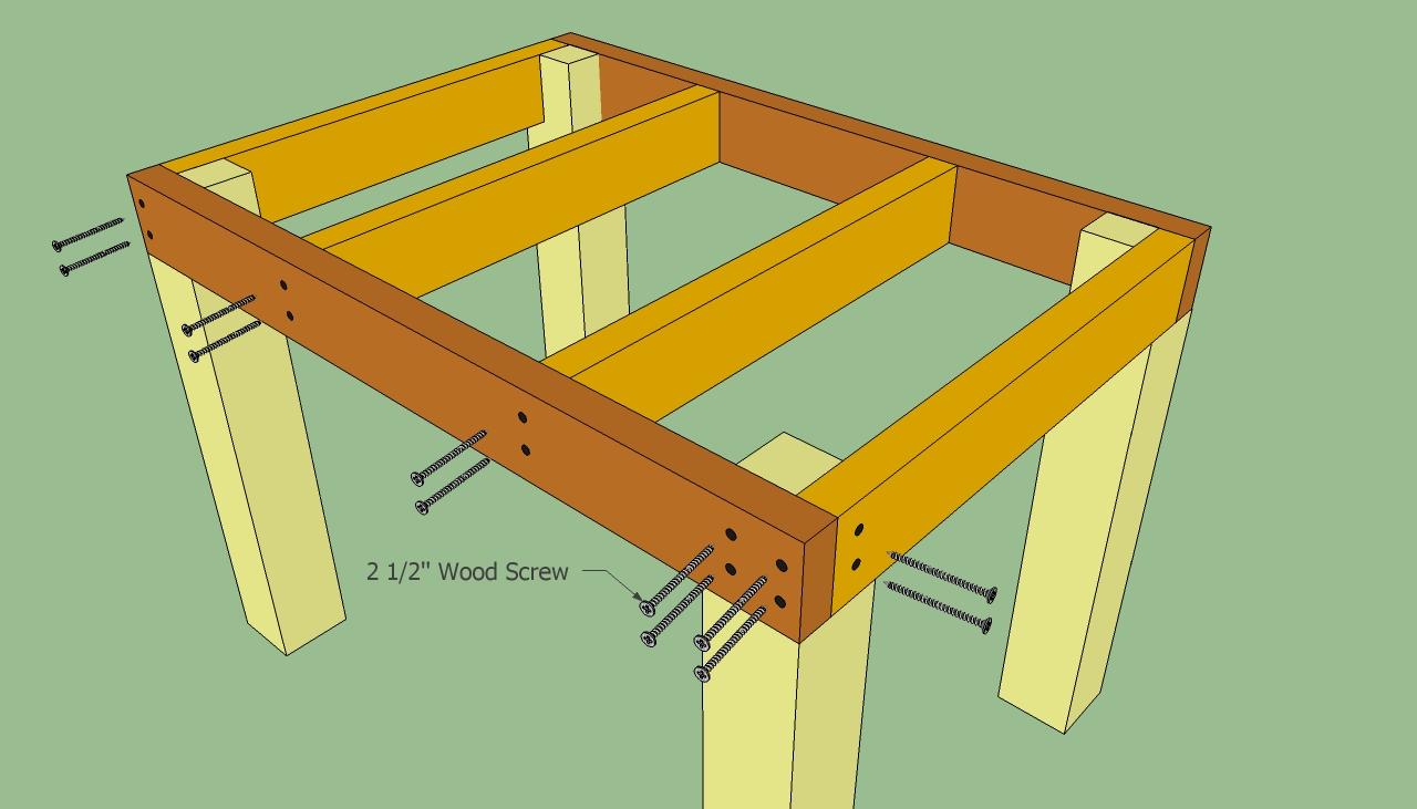 Деревянные столы своими руками чертежи 91