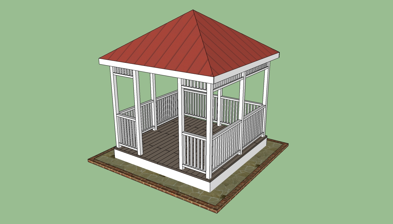 Wooden Gazebo Kits Howtospecialist How To Build Step