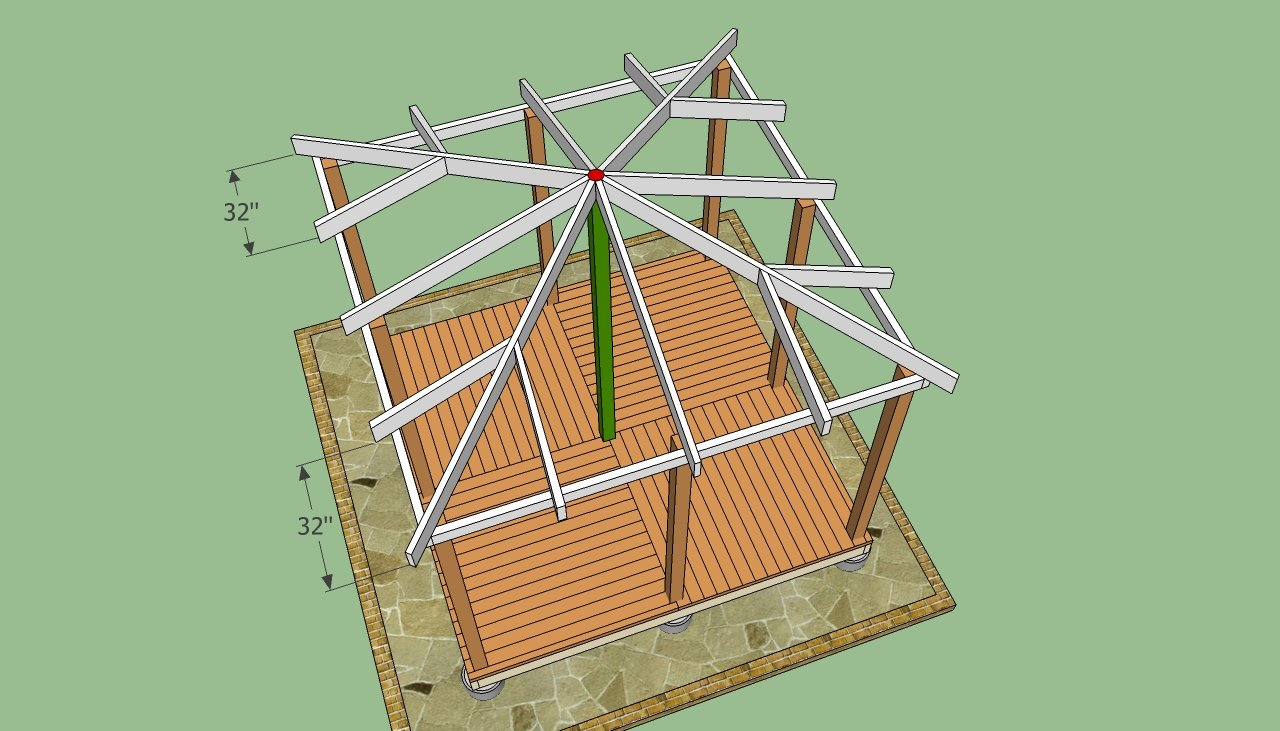 How to make a gazebo of wood and not only 77