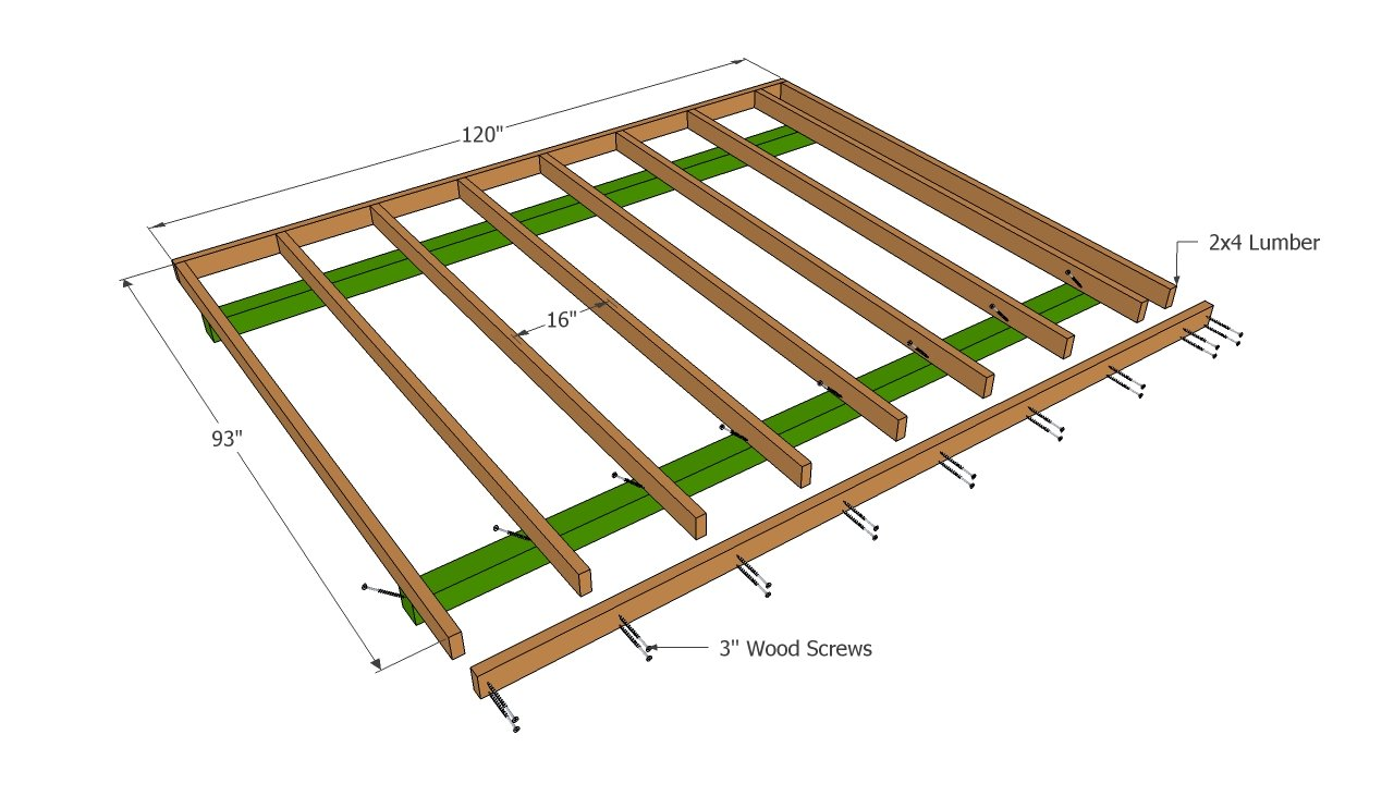 Building The Floor Of The Barn Shed Howtospecialist How To Build