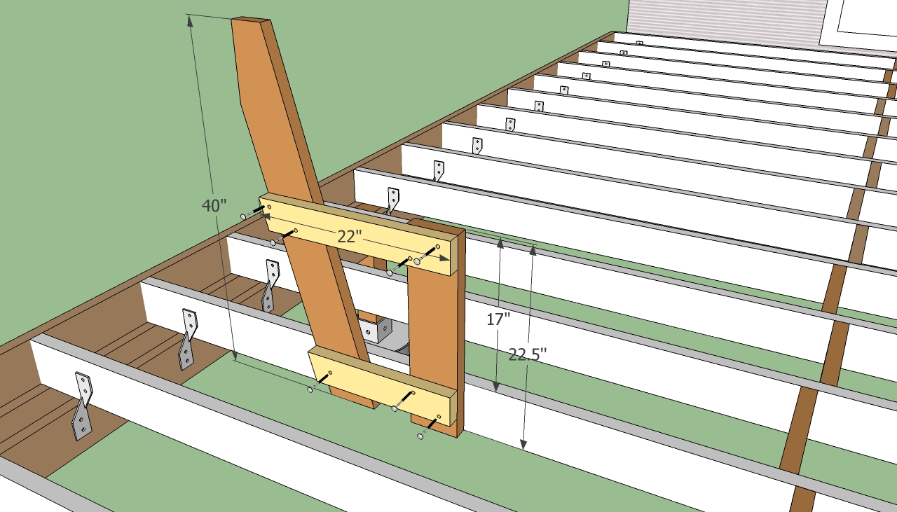 Deck bench plans free howtospecialist how to build Building a deck