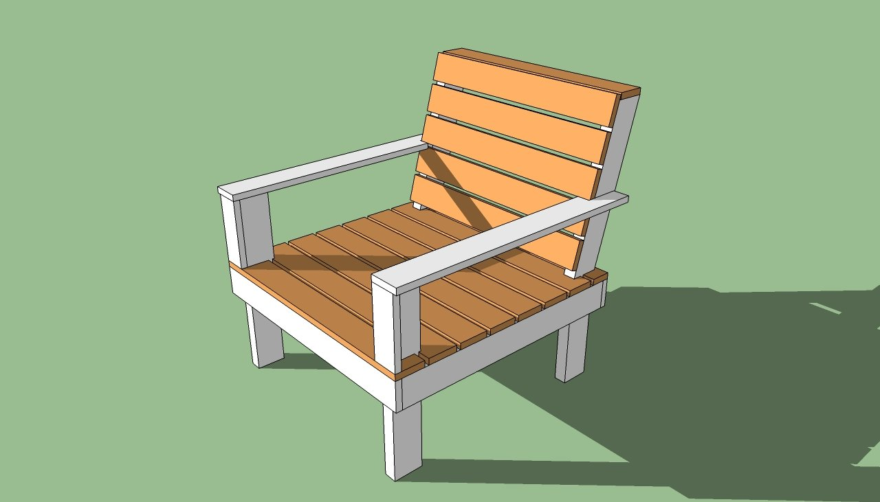 Outdoor Chair Plans | HowToSpecialist - How to Build, Step ...