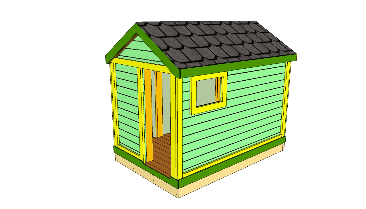 Woodwork kids outdoor playhouse plans free pdf plans for Plans for childrens playhouse