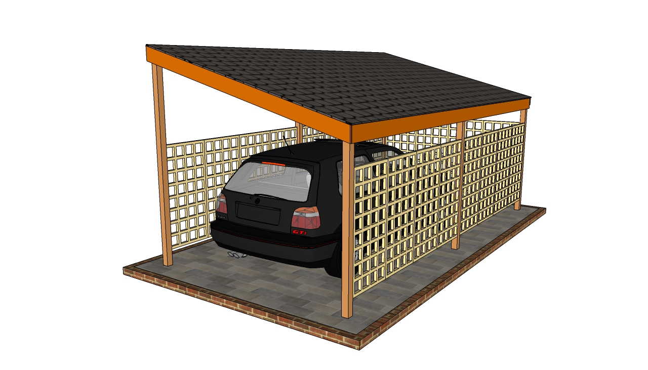 Wooden Carport Plans : How to build a double carport howtospecialist