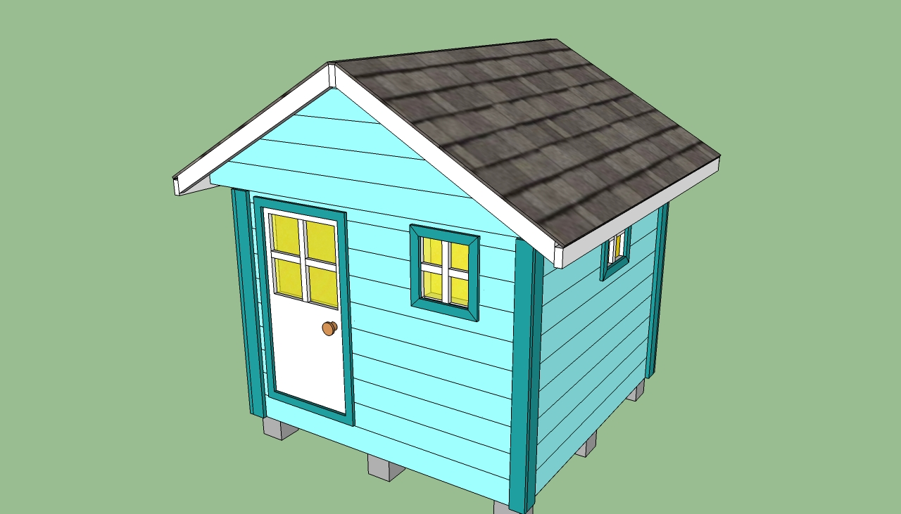 Playhouse plans free howtospecialist how to build for Wooden playhouse designs