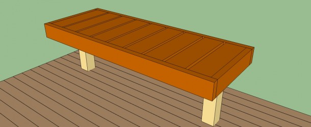 How To Build A Deck Bench Howtospecialist How To Build