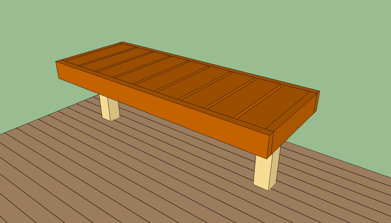 How to build a deck bench Floating deck plans free How to build a deck ...