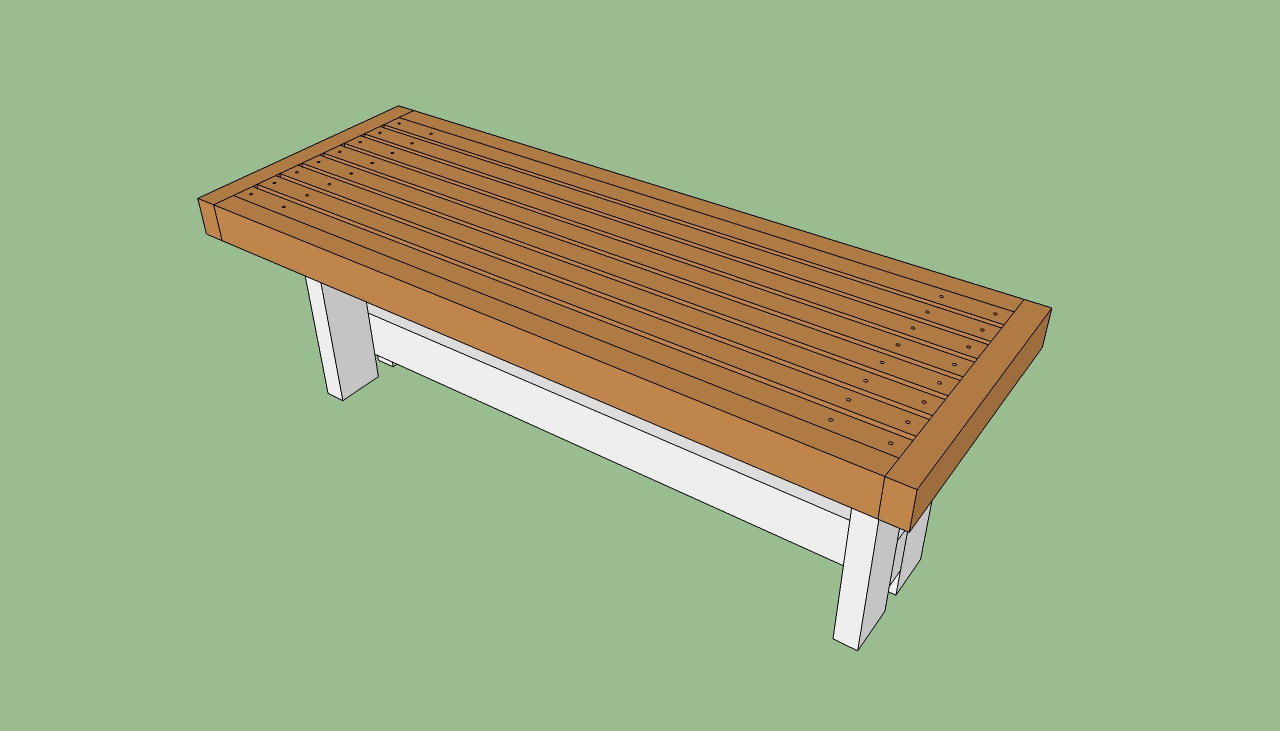How to build a park bench