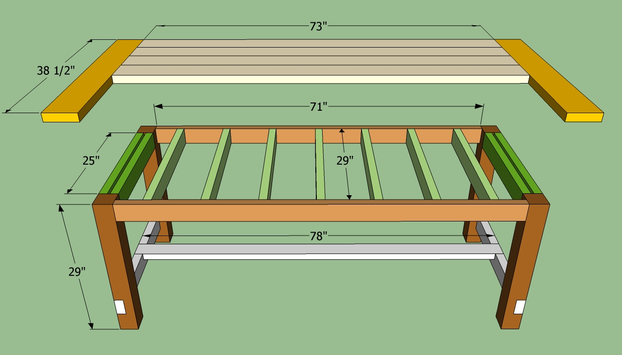Table chair work complete free plans for building a kitchen table - Building kitchen table ...