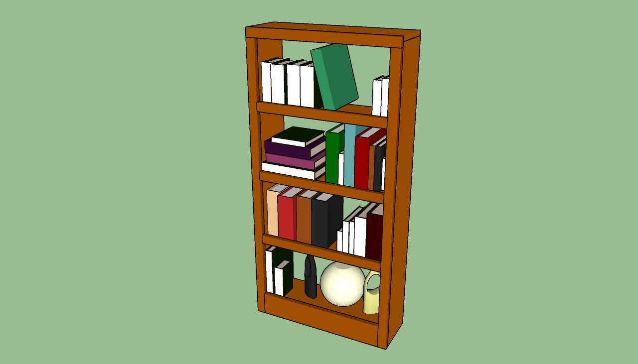 How to build a bookcase wall