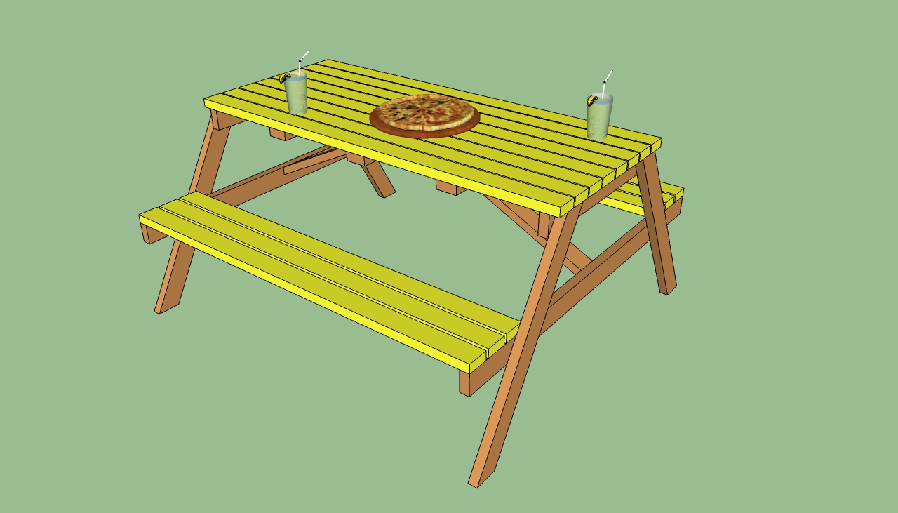 How to build a wooden picnic table | HowToSpecialist - How to Build ...