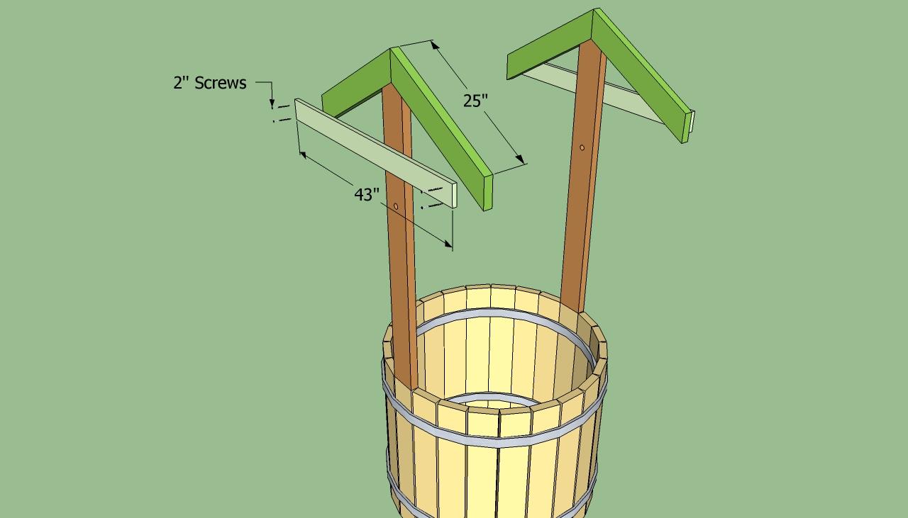 Как своими руками сделать крышу над колодцем 12