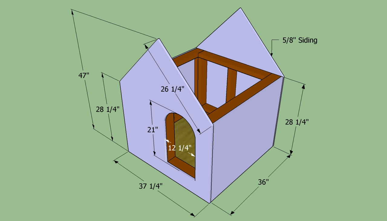 Heated dog house free plans build house design and Build a house online free