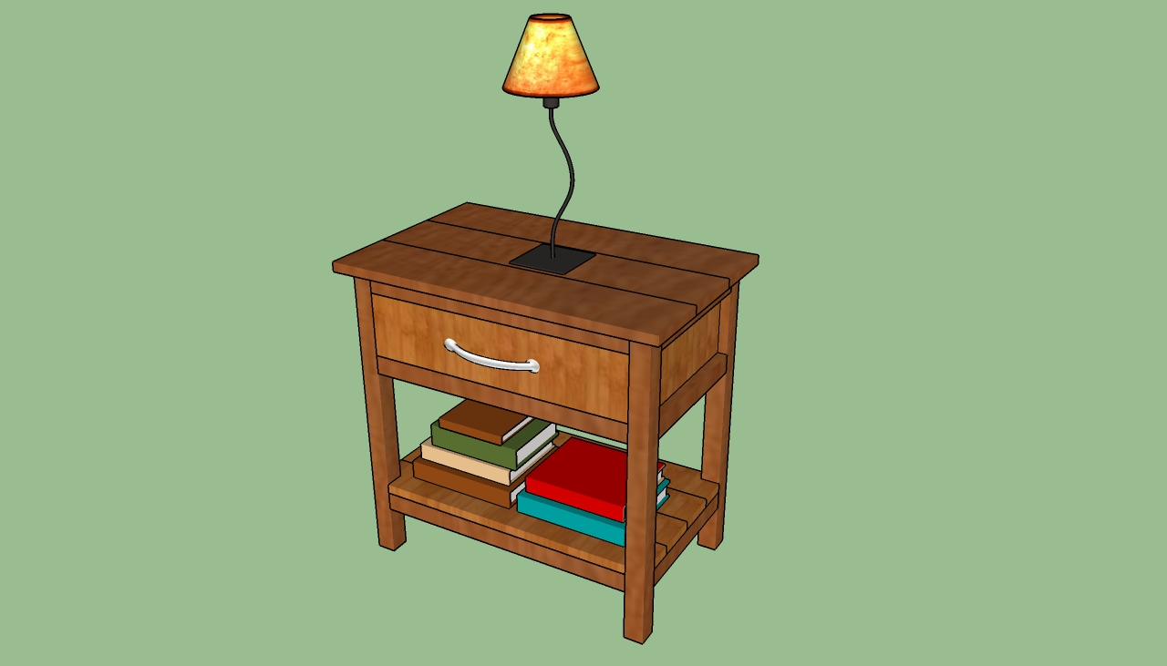 Bedside table design plans - How To Build A Bedside Table