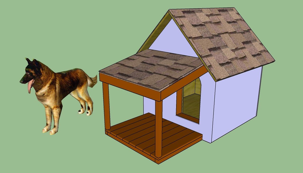 Dog house plans free howtospecialist how to build for Building a house step by step