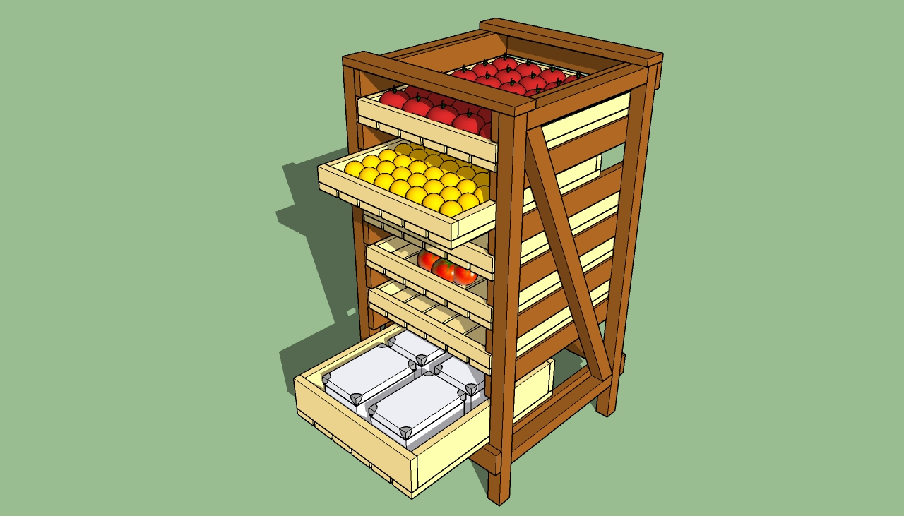 How to build food storage shelves
