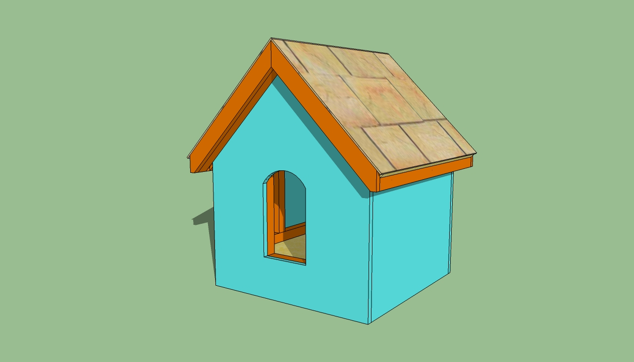 Sally building shed attached to house - Small dog house blueprints ...