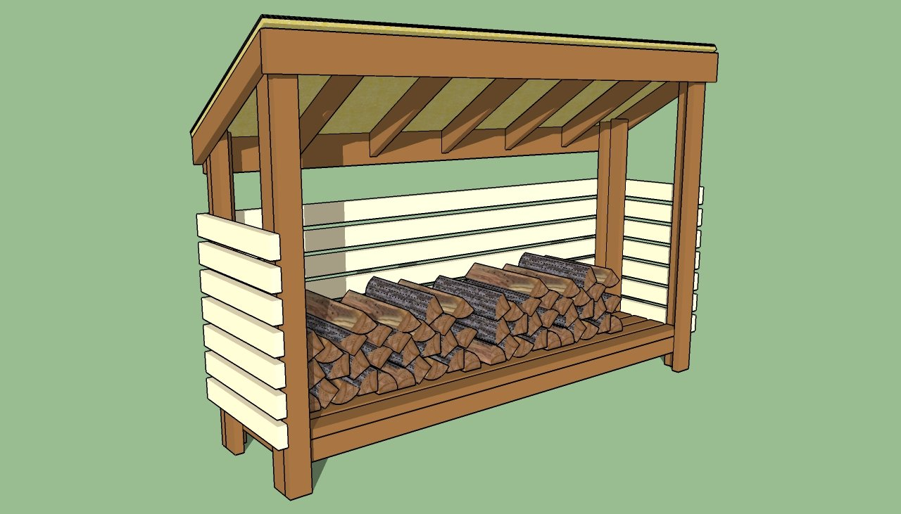 Firewood storage shed plans howtospecialist how to Step by step to build a house