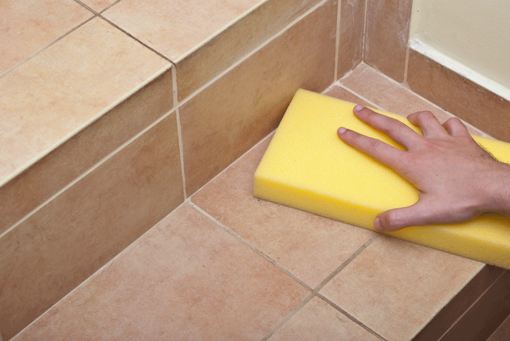 How to remove grout from tiles howtospecialist how to for Best product for cleaning bathroom tiles