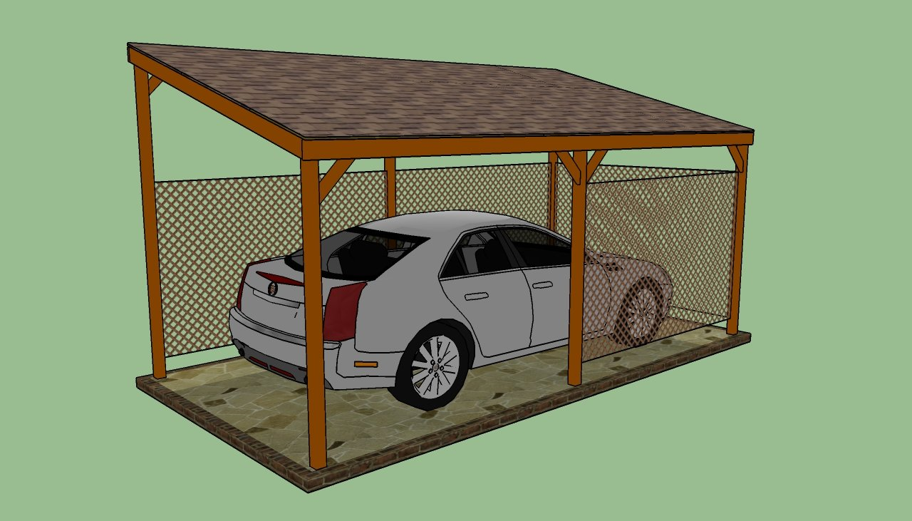 Diy lean to carport plans furnitureplans for Lean to carport plans